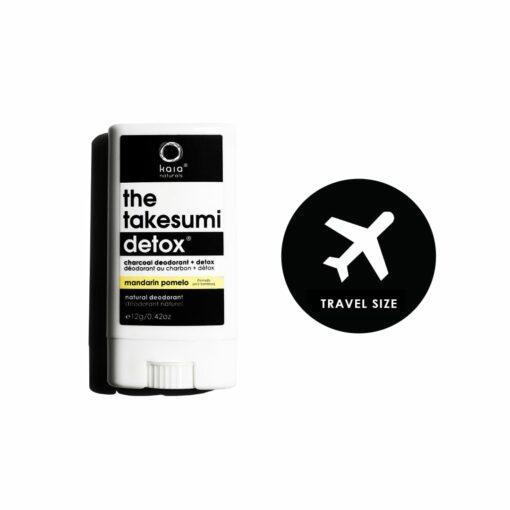 mandarin pomelo charcoal deodorant travel size - kaia naturals