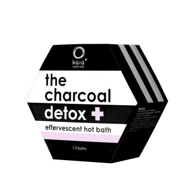 charcoal hot bath detox