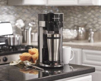 clean coffee maker with ACV