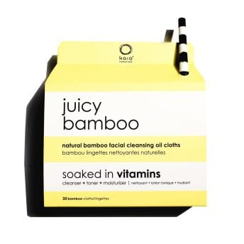 juicy bamboo cleansing cloths - kaia naturals