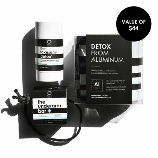 detox from aluminum - natural deodorant kit - value of $44 - kaia naturals