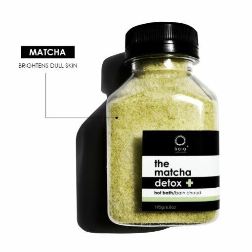 matcha detox hot bath brightens dull skin