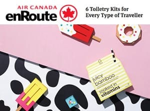 enroute air canada toiletry