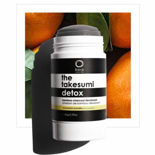 mandarin pomelo formally juicy bamboo charcoal deodorant - kaia naturals