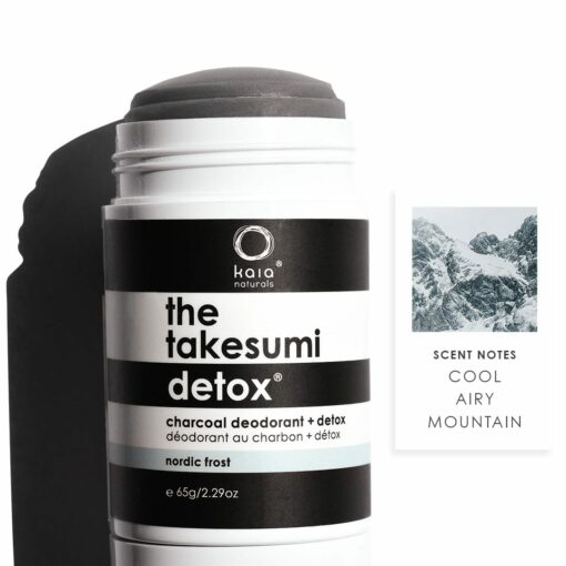 the takesumi detox nordic frost charcoal deodorant - scent notes - cool, airy, mountain