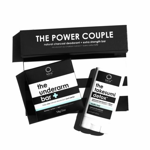 power couple - the underarm bar and charcoal deodorant
