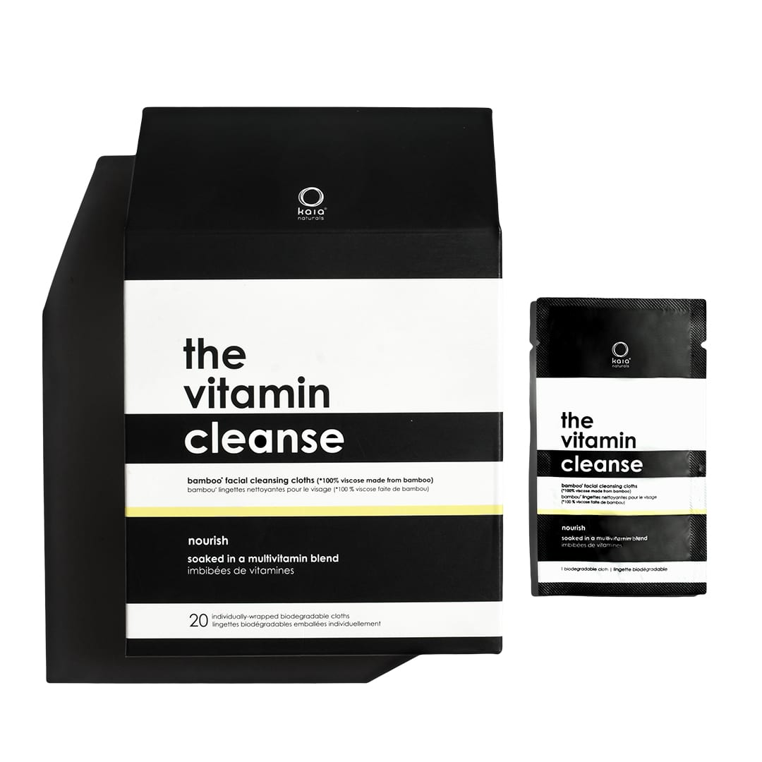 the vitamin cleanse bamboo facial cleansing cloths 20 singles