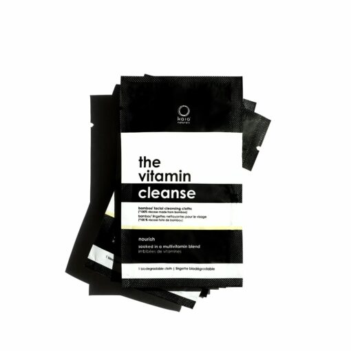 the vitamin cleanse bamboo facial cleansing cloths individually-wrapped sachets